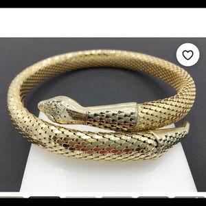 Whiting & Davis Vintage Snake Wrap Necklace